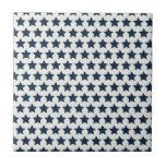 Estrellas de azules marinos patrióticas de la dive azulejo