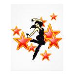 Estrellas de baile tarjetas informativas