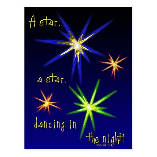Estrellas de baile tarjetas postales