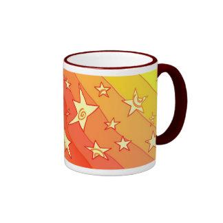 Estrellas de baile taza de dos colores