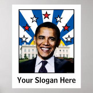 Estrellas de Barack Obama y poster de encargo del