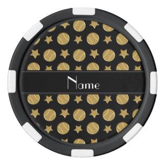 Estrellas de béisboles negras conocidas juego de fichas de póquer
