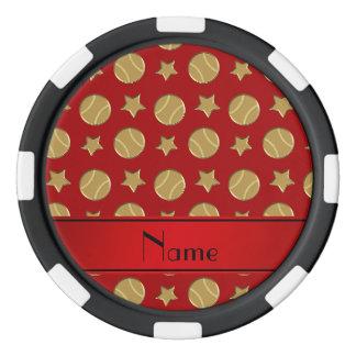 Estrellas de béisboles rojas conocidas fichas de póquer