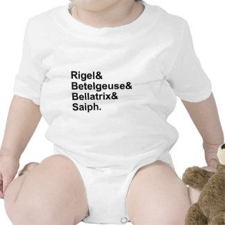 Estrellas de Bellatrix Saiph el   del Betelgeuse Body Para Bebé