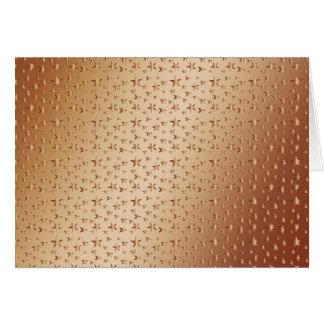 estrellas de cobre de la mirada de la hoja en el f tarjetón
