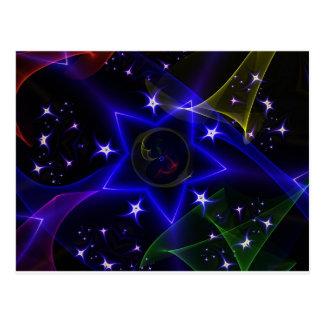 Estrellas de giro tarjetas postales