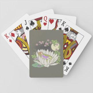 Estrellas de hadas del claro de luna de la flor el cartas de póquer