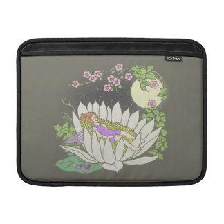 Estrellas de hadas del claro de luna de la flor el fundas MacBook