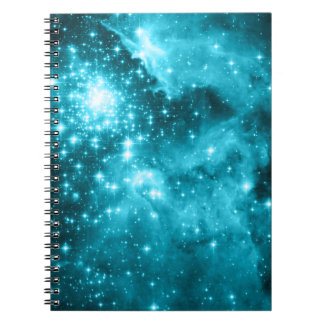 Estrellas de la aguamarina cuadernos