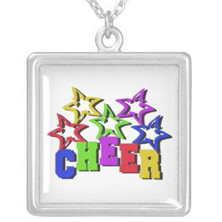 Estrellas de la alegría colgante cuadrado