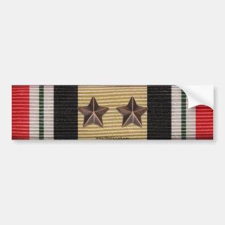 Estrellas de la batalla de la cinta 2 de la medall pegatina para auto