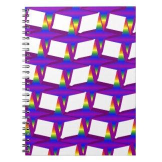 Estrellas de la cadena del arco iris notebook