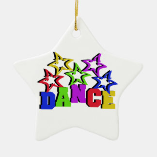 Estrellas de la danza adorno de cerámica en forma de estrella