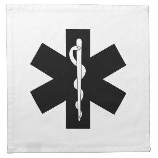 Estrellas de la emergencia del ccsme servilleta imprimida