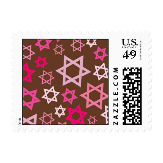 Estrellas de la explosión del caramelo timbre postal