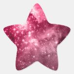 Estrellas de la frambuesa pegatina en forma de estrella