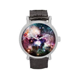 Estrellas de la galaxia de la nebulosa relojes de mano