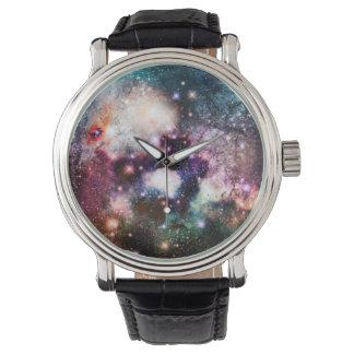 Estrellas de la galaxia de la nebulosa reloj de mano
