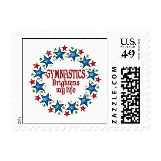 Estrellas de la gimnasia sellos postales