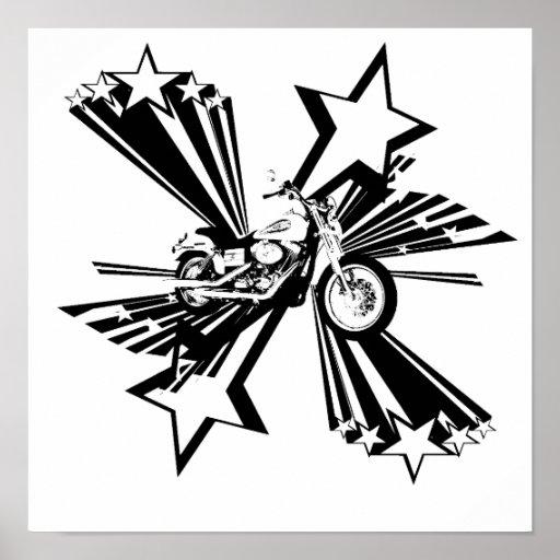 Estrellas de la motocicleta póster