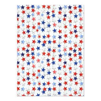 Estrellas de la nación invitación 13,9 x 19,0 cm