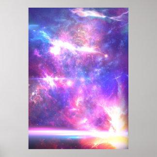 Estrellas de la nebulosa de la galaxia póster