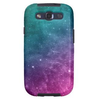 Estrellas de la nebulosa del rosa del trullo de la galaxy s3 fundas