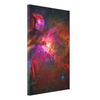 Estrellas de la nebulosa y del trapecio de Orión Impresion En Lona