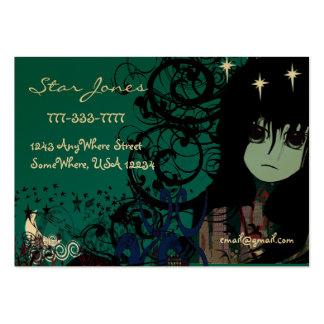 Estrellas de la nube de la luna de los chicas del tarjetas de visita grandes