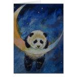 Estrellas de la panda tarjeta pequeña