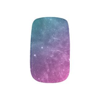 Estrellas de la pendiente del rosa del trullo de pegatinas para manicura