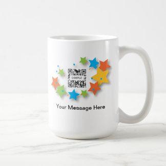 Estrellas de la plantilla de la taza de café