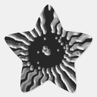 Estrellas de la plata de BNW B&W - sombras blancos Calcomanía Cuadrada Personalizada