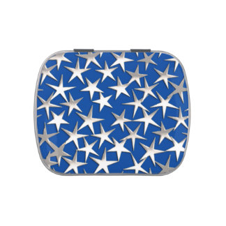 Estrellas de la plata en azul de cobalto frascos de dulces