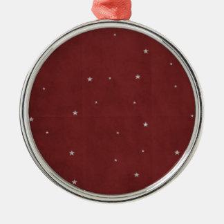 Estrellas de la plata en fondo rojo ornatos