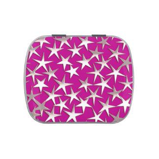 Estrellas de la plata en púrpura amethyst jarrones de dulces