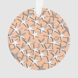 Estrellas de la plata en rosa del melocotón