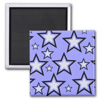 Estrellas de la plata iman de frigorífico