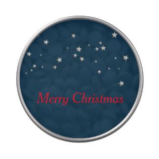 Estrellas de la plata, navidad latas de caramelos