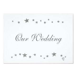 """Estrellas de la plata, nuestro boda, invitaciones, invitación 5"""" x 7"""""""
