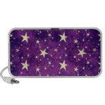 Estrellas de la púrpura del vintage portátil altavoces
