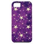 Estrellas de la púrpura del vintage iPhone 5 cobertura