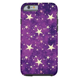 Estrellas de la púrpura del vintage funda de iPhone 6 tough