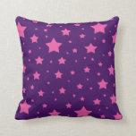 estrellas de la púrpura y del rosa almohada