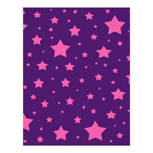 """Estrellas de la púrpura y del rosa folleto 8.5"""" x 11"""""""
