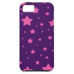 estrellas de la púrpura y del rosa iPhone 5 Case-Mate carcasas