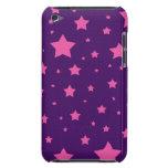 estrellas de la púrpura y del rosa barely there iPod carcasas