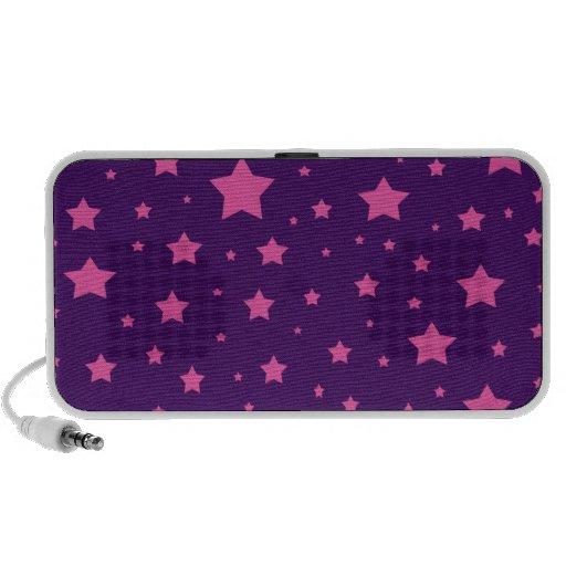 Estrellas de la púrpura y del rosa iPod altavoces