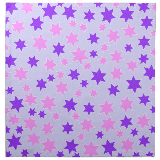 Estrellas de la púrpura y del rosa servilleta