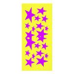 Estrellas de la señal del color plantilla de lona